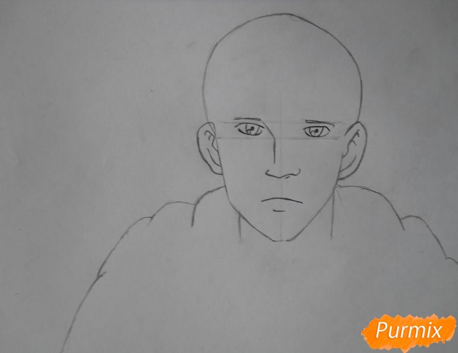 Рисуем Гюнтера из аниме Атака титанов - шаг 2