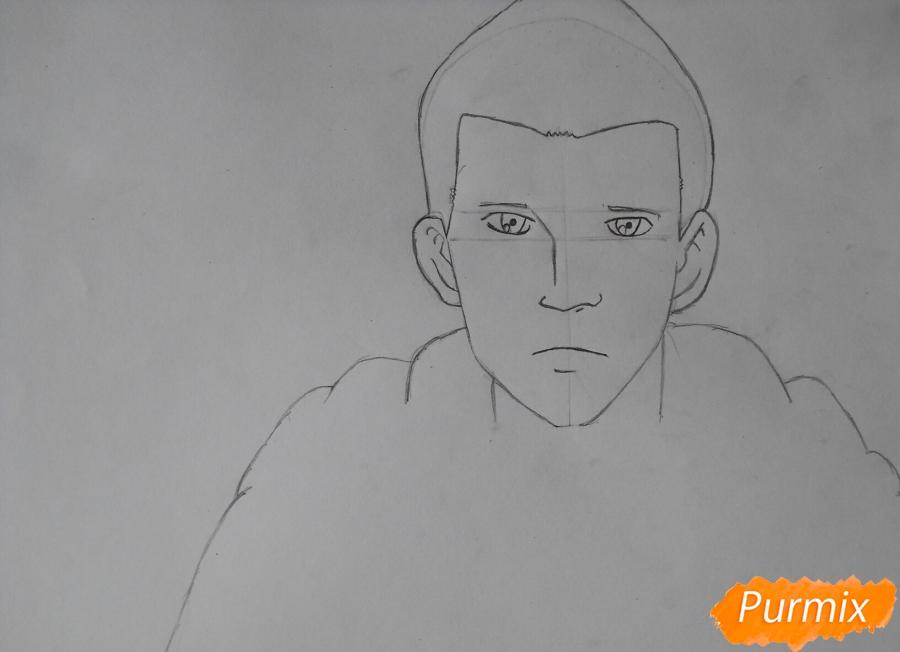 Рисуем Гюнтера из аниме Атака титанов - шаг 3