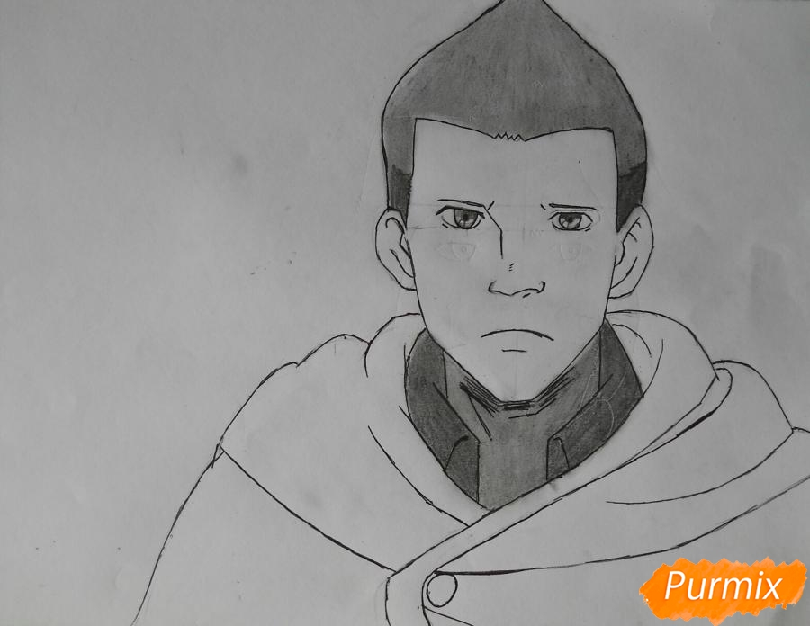 Рисуем Гюнтера из аниме Атака титанов - шаг 8