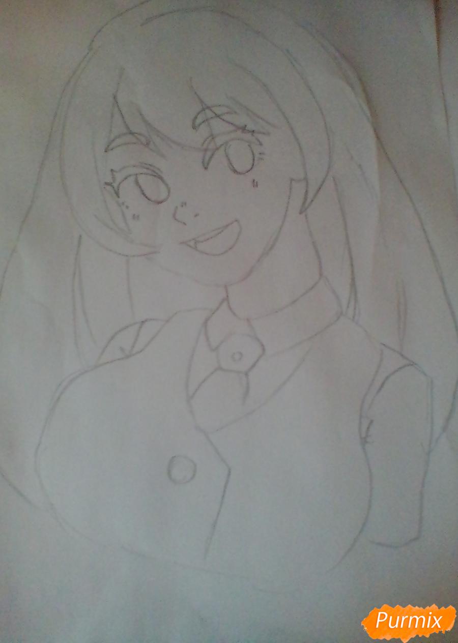 Рисуем Хадо Неджирэ из аниме Моя Геройская Академия - шаг 5