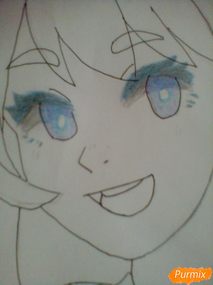 Рисуем Хадо Неджирэ из аниме Моя Геройская Академия - шаг 7