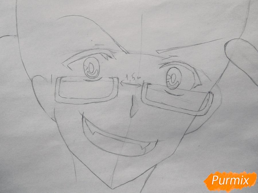 Рисуем Хайда слугу-вампира Жадность из аниме Сервамп - фото 3