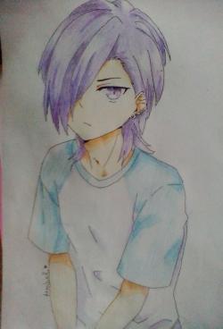 Рисунок Хандзо Урусихару из аниме Сатана на подработке
