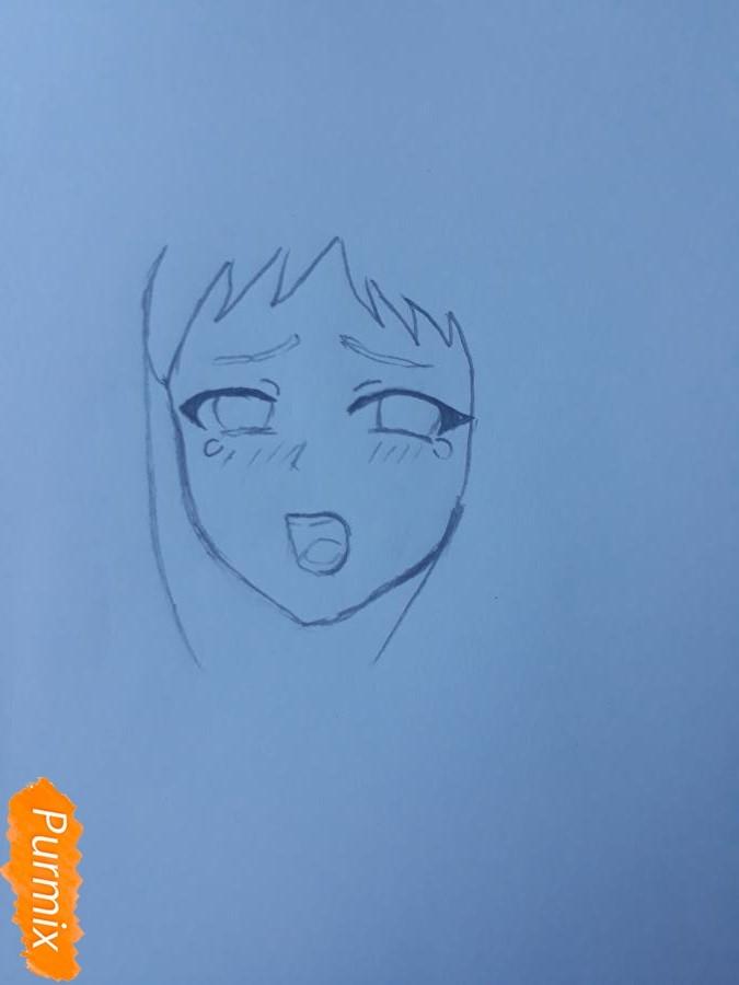 Рисуем Ханну со слезами из аниме Невиданный цветок - фото 2