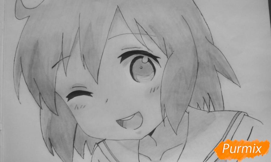 Рисуем Харуку Котоуру из аниме Котоура-сан - шаг 10