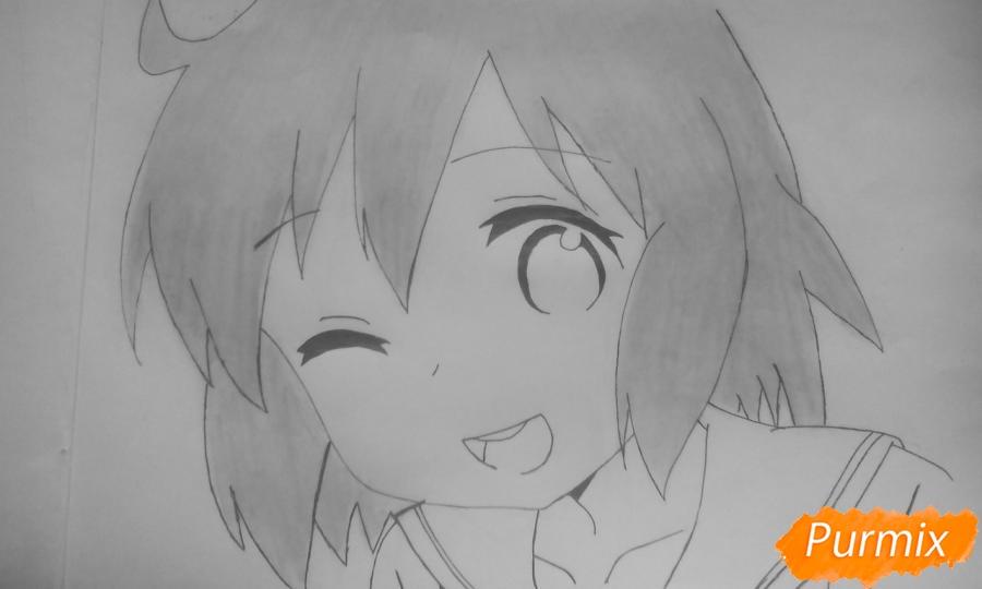 Рисуем Харуку Котоуру из аниме Котоура-сан - шаг 6