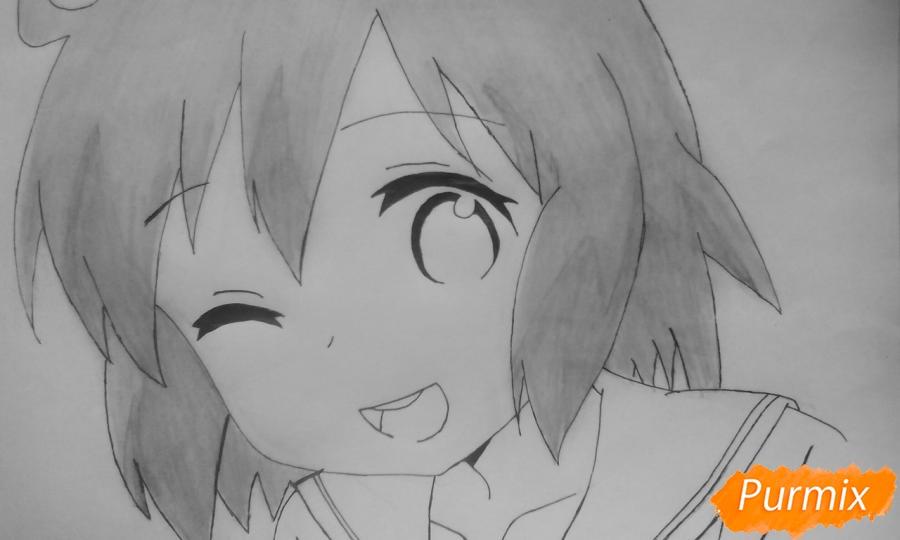 Рисуем Харуку Котоуру из аниме Котоура-сан - шаг 7