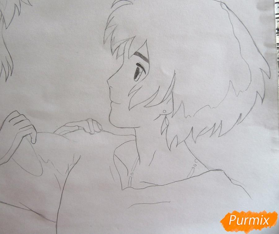 Рисуем Хаула и Софи из аниме Ходячий замок Хаула - фото 7