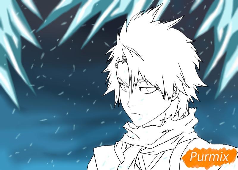 Рисуем и раскрашиваем Хицугая Тоширо из аниме Блич - фото 8