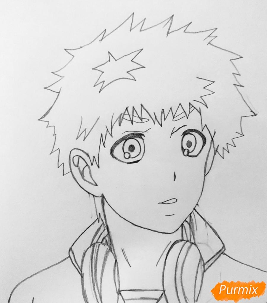 Рисуем Хидейоши Нагачика из аниме Токийский гуль - шаг 5