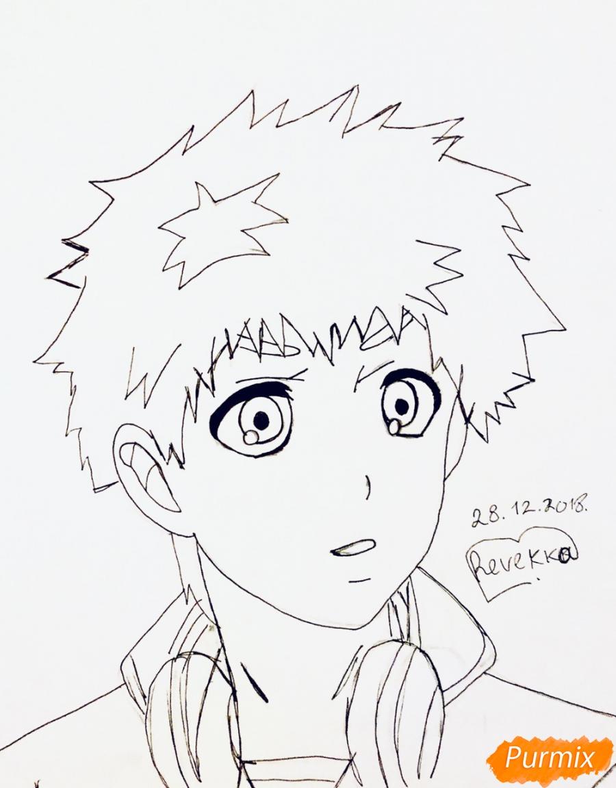Рисуем Хидейоши Нагачика из аниме Токийский гуль - шаг 6