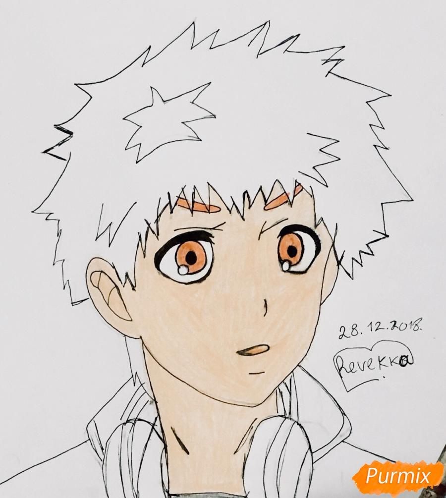 Рисуем Хидейоши Нагачика из аниме Токийский гуль - шаг 7