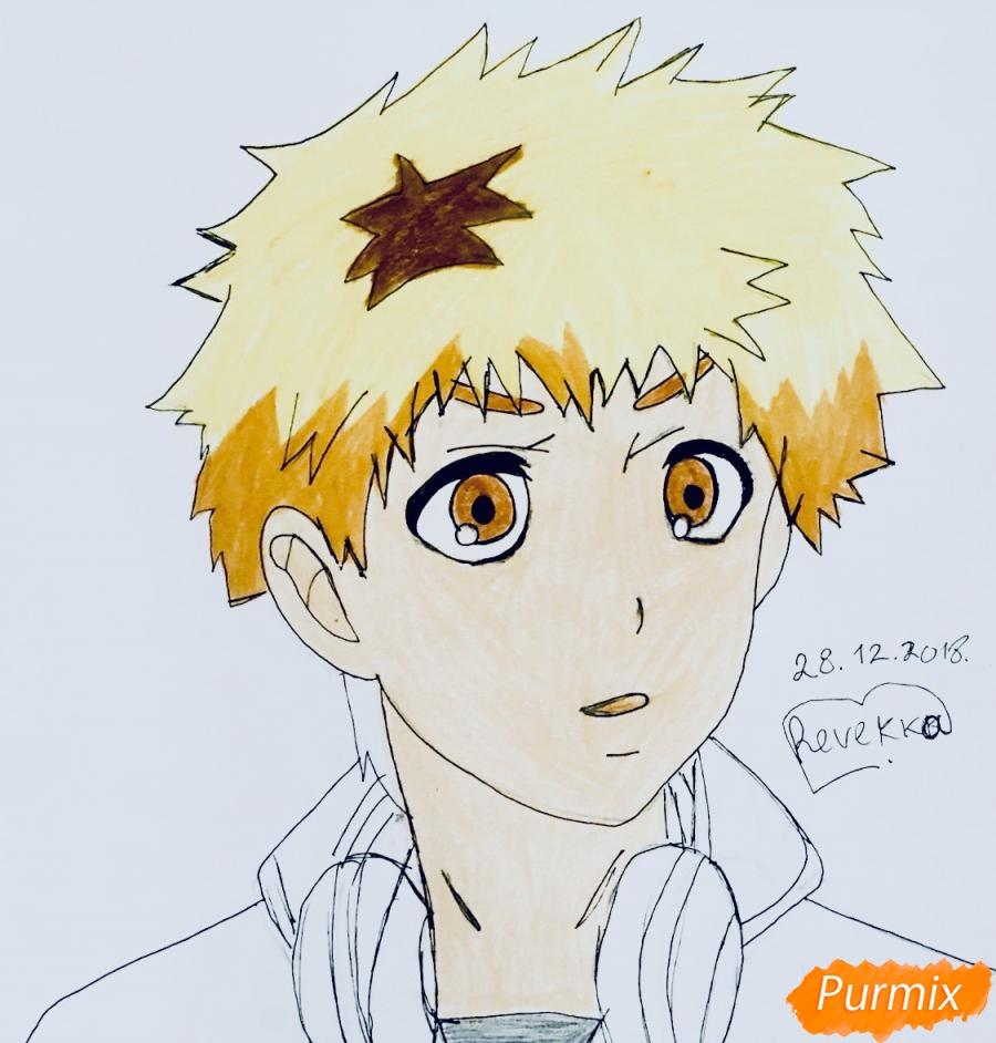 Рисуем Хидейоши Нагачика из аниме Токийский гуль - шаг 8