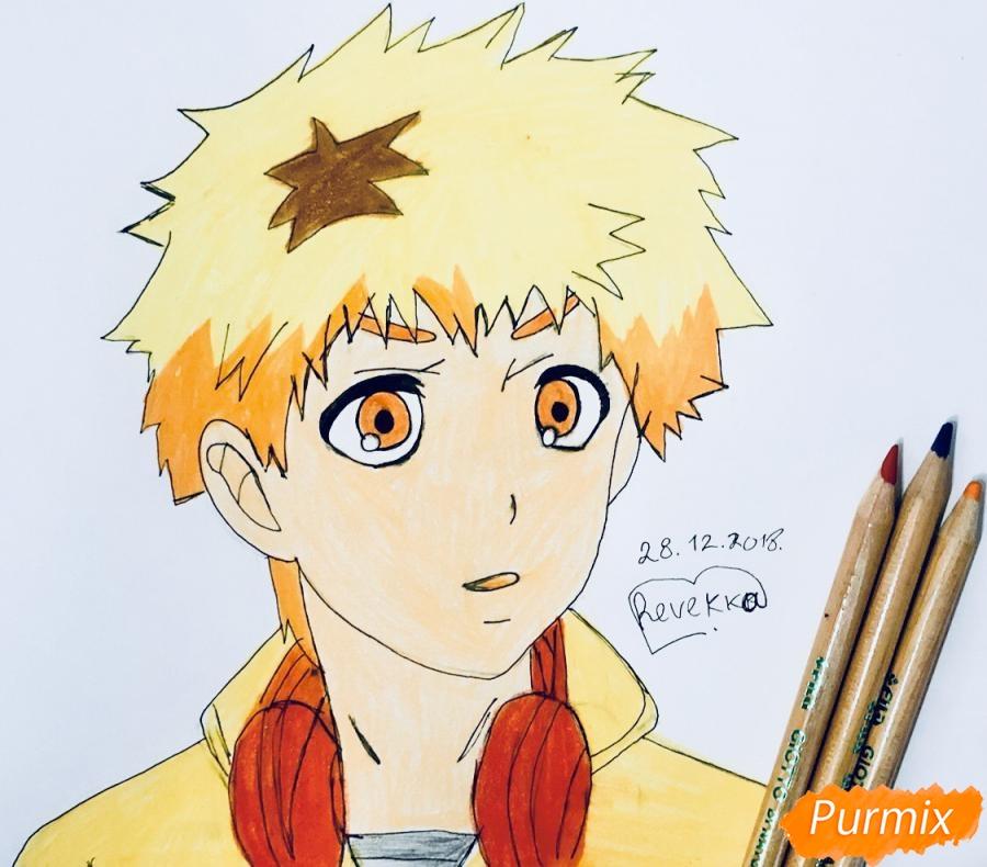 Как нарисовать Хидейоши Нагачика из аниме Токийский гуль карандашом поэтапно