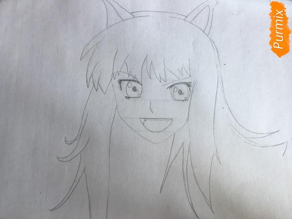 Рисуем Холо из аниме Волчица и пряности карандашами - фото 3
