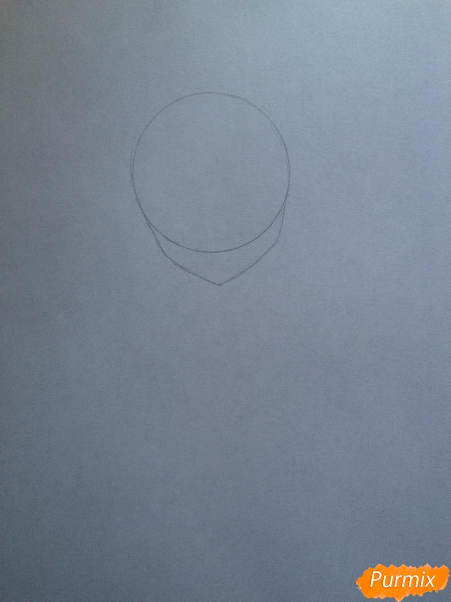 Поэтапно рисуем цветными карандашами милую неко девушку - шаг 1