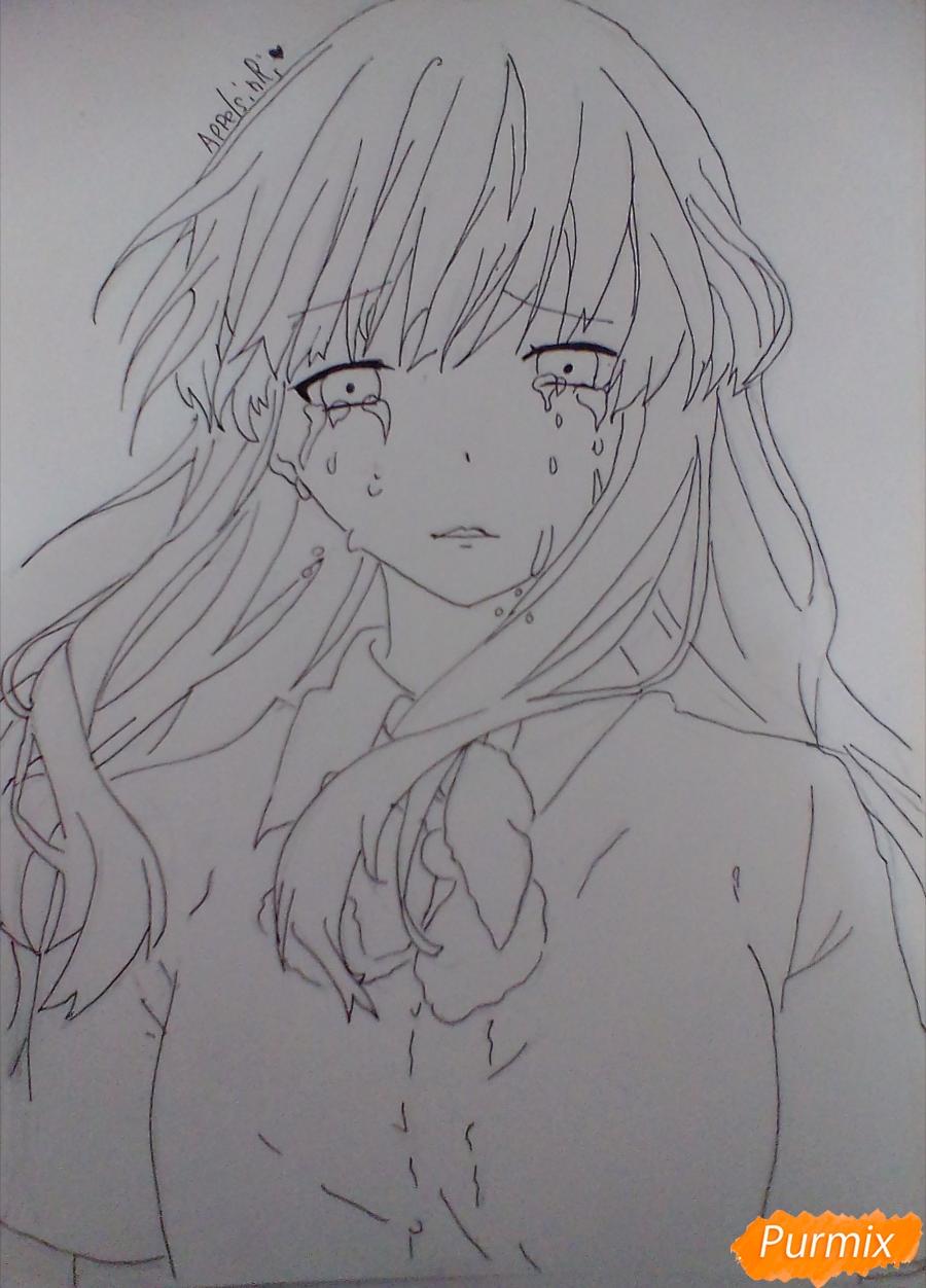 Рисуем и раскрасить Нишимию Шоку - фото 5