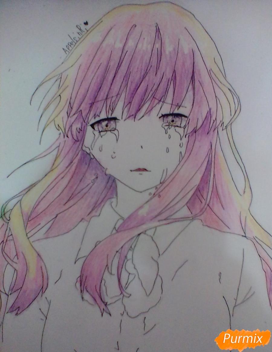 Рисуем и раскрасить Нишимию Шоку - фото 7