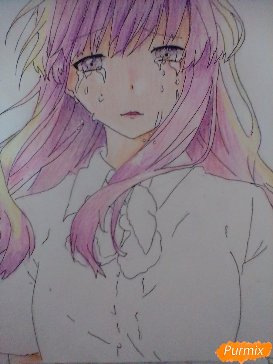 Рисуем и раскрасить Нишимию Шоку - фото 8
