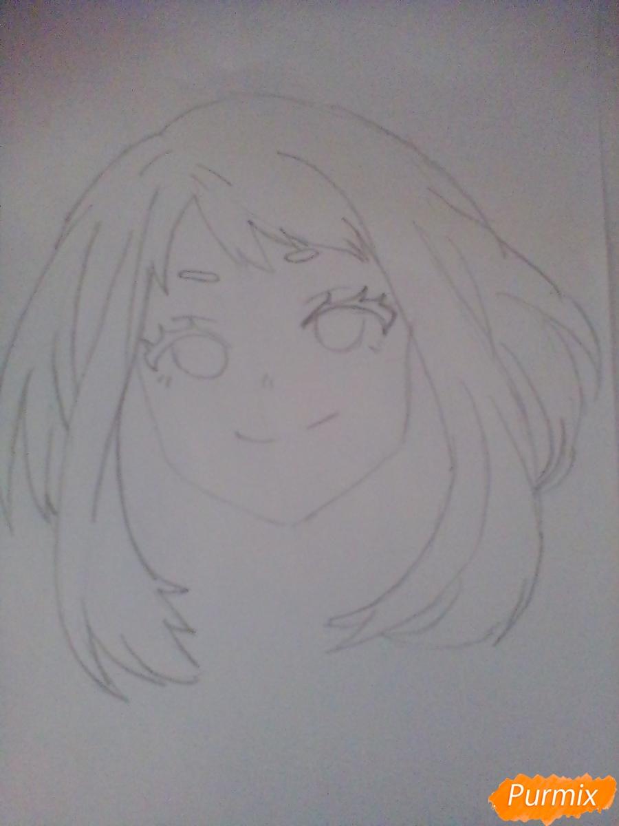Рисуем портрет Очаки Урараки - фото 5