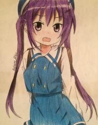 Рисунок и раскрасить стесняющуюся аниме девочку