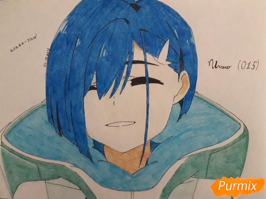 Как нарисовать Ичиго из аниме Милый во Франксе карандашом поэтапно