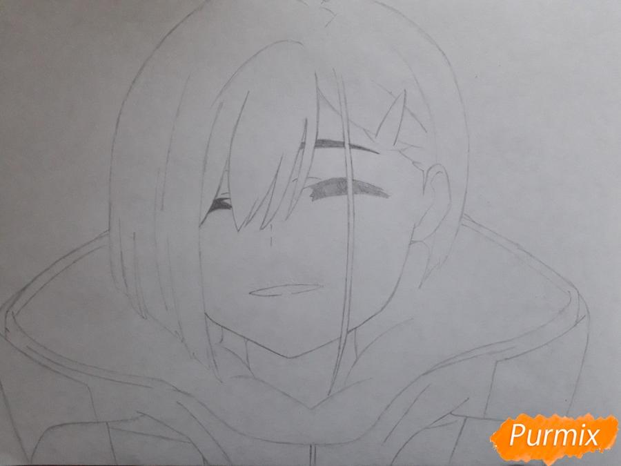 Рисуем Ичиго из аниме Милый во Франксе - шаг 4