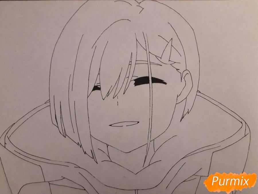 Рисуем Ичиго из аниме Милый во Франксе - шаг 5