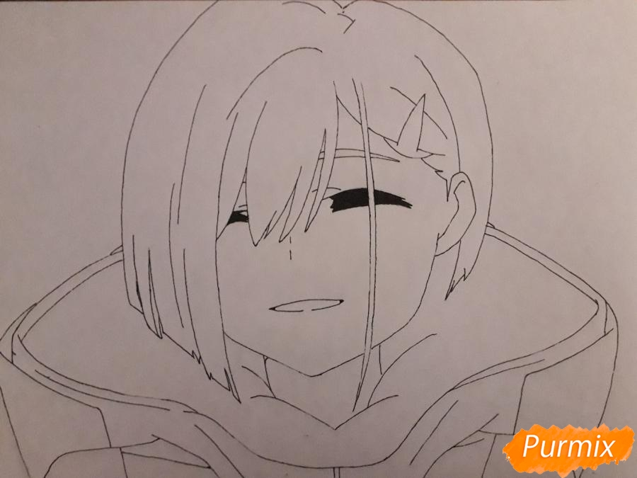 Рисуем Ичиго из аниме Милый во Франксе - фото 5