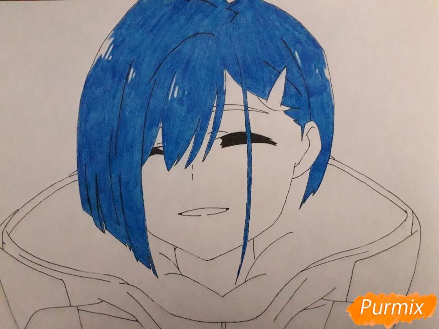 Рисуем Ичиго из аниме Милый во Франксе - шаг 6