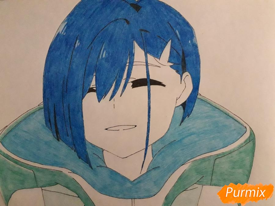 Рисуем Ичиго из аниме Милый во Франксе - фото 8