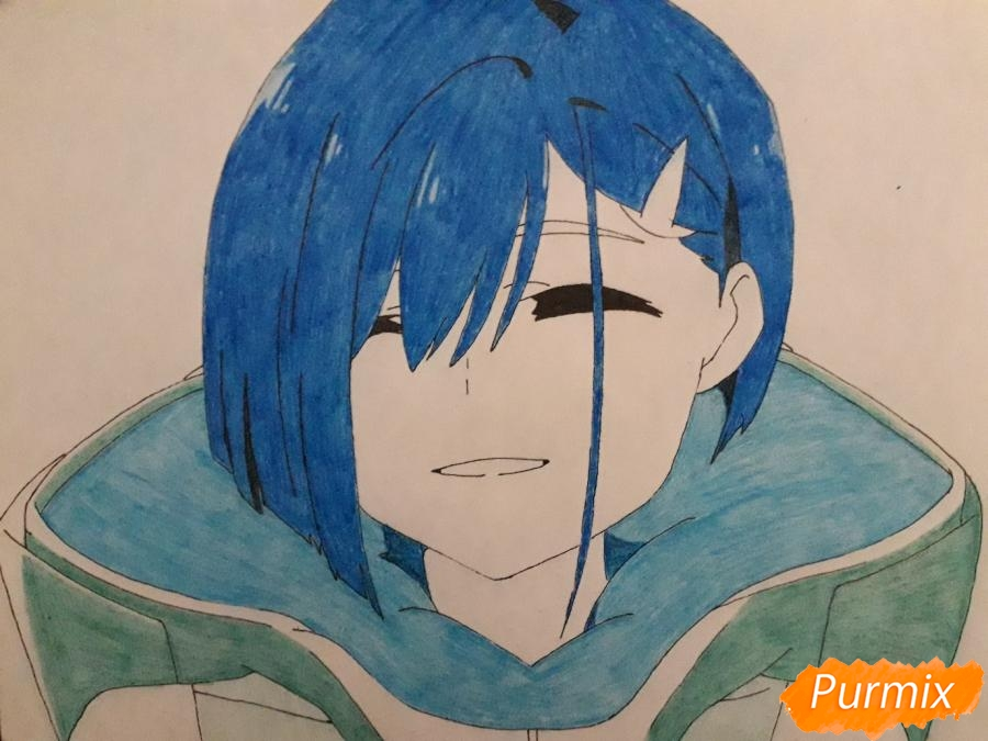Рисуем Ичиго из аниме Милый во Франксе - фото 9