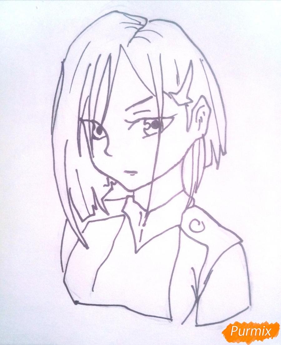 Рисуем Ичиго из аниме Милый Во Франксе карандашами - фото 6