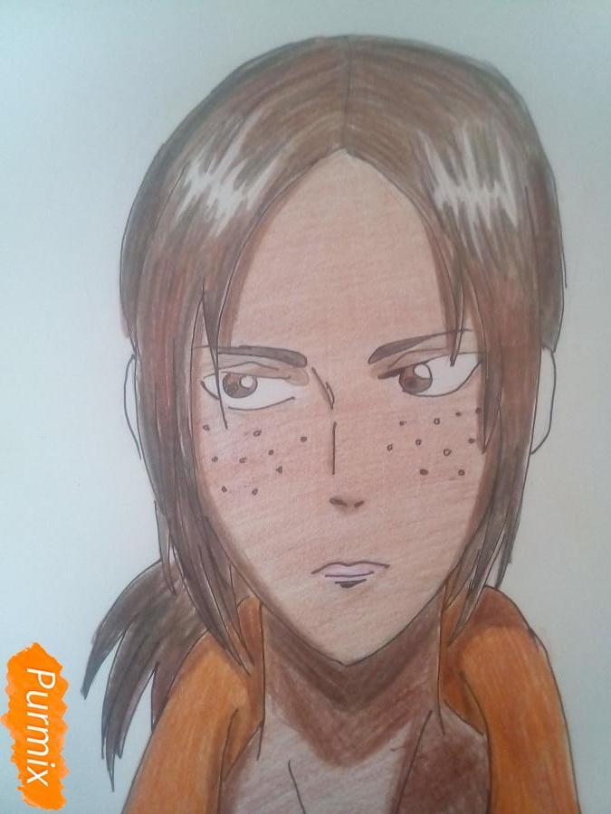 Рисуем Имир из аниме Атака Титанов карандашами - фото 12