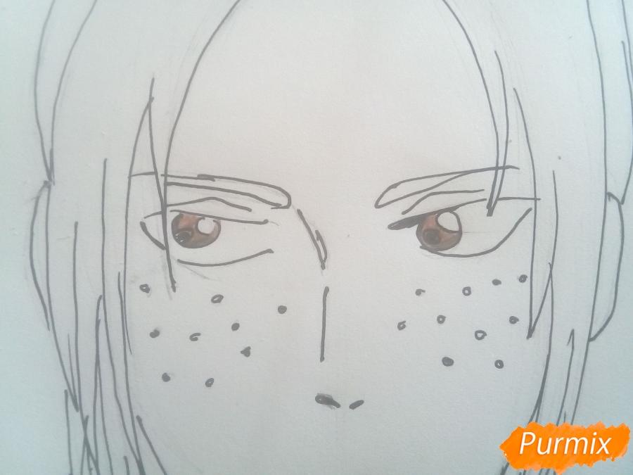 Рисуем Имир из аниме Атака Титанов карандашами - фото 8