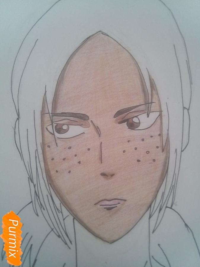 Рисуем Имир из аниме Атака Титанов карандашами - фото 9