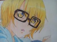 Изуми из Любовная сцена цветными карандашами