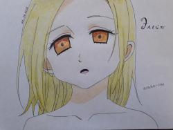 Рисунок Элейн из аниме Семь смертных грехов