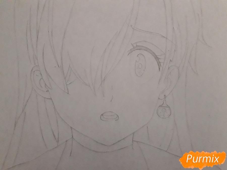 Рисуем Элизабет из аниме Семь смертных грехов - фото 4