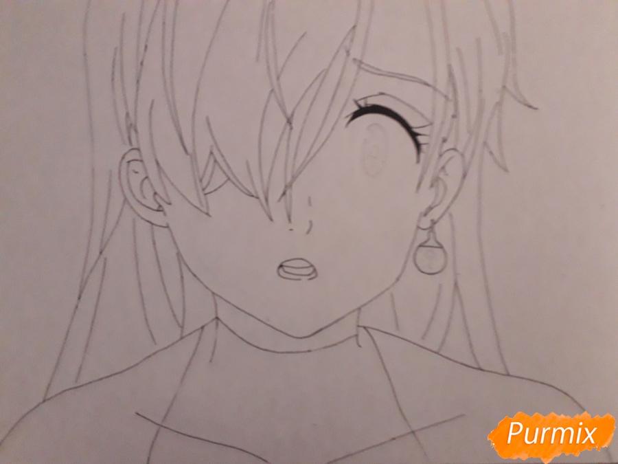 Рисуем Элизабет из аниме Семь смертных грехов - фото 5