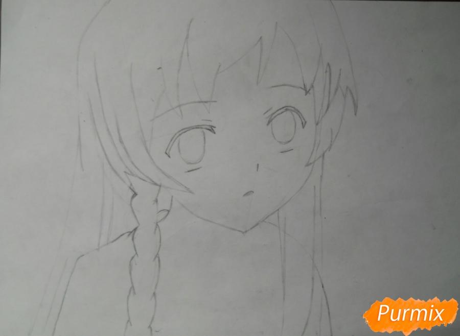 Рисуем Эмилию из аниме Сатана на подработке - шаг 3