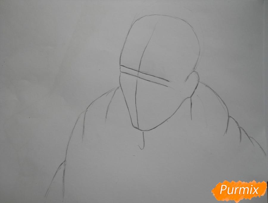 Рисуем Эрда из аниме Атака титанов - шаг 1