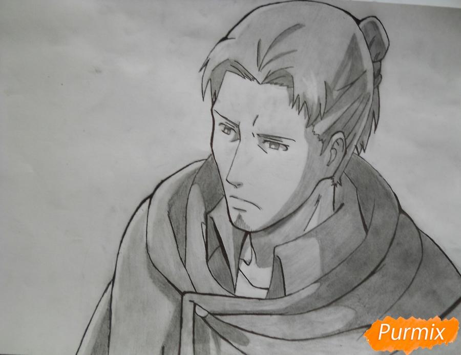 Как нарисовать Эрда из аниме Атака титанов карандашом поэтапно