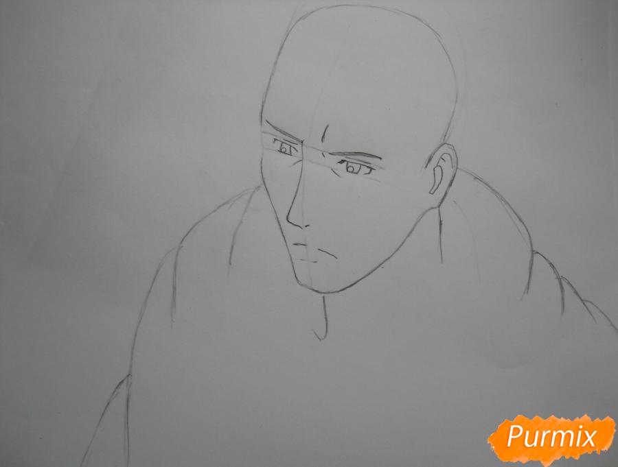 Рисуем Эрда из аниме Атака титанов - шаг 2