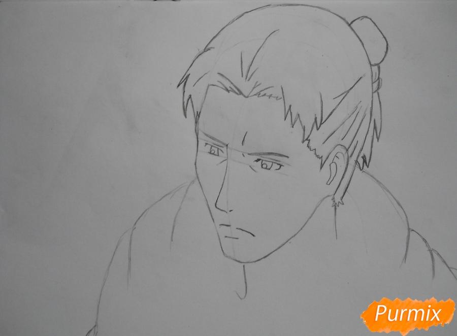 Рисуем Эрда из аниме Атака титанов - шаг 3