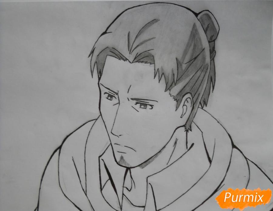 Рисуем Эрда из аниме Атака титанов - шаг 7