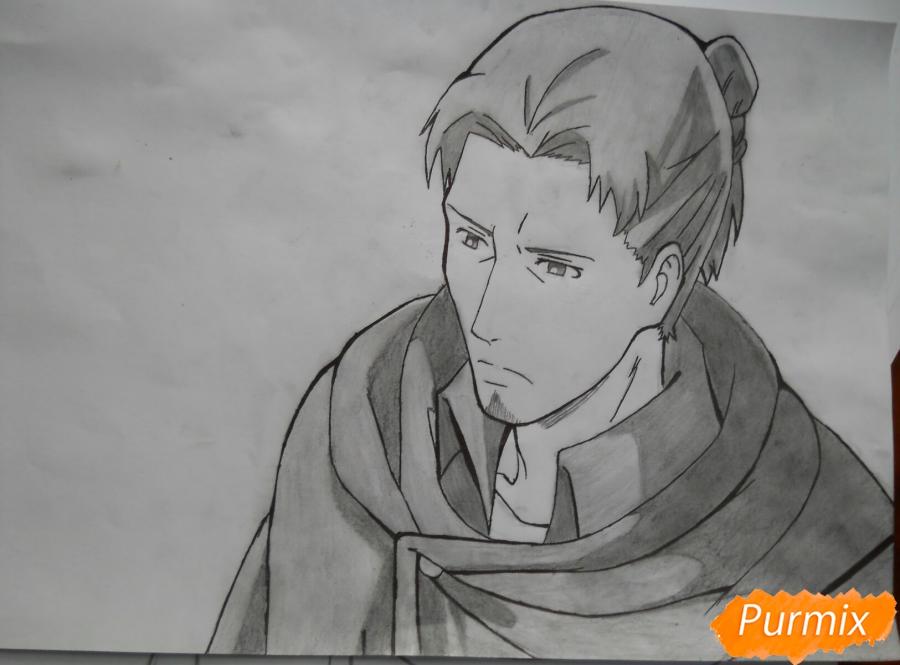 Рисуем Эрда из аниме Атака титанов - шаг 9