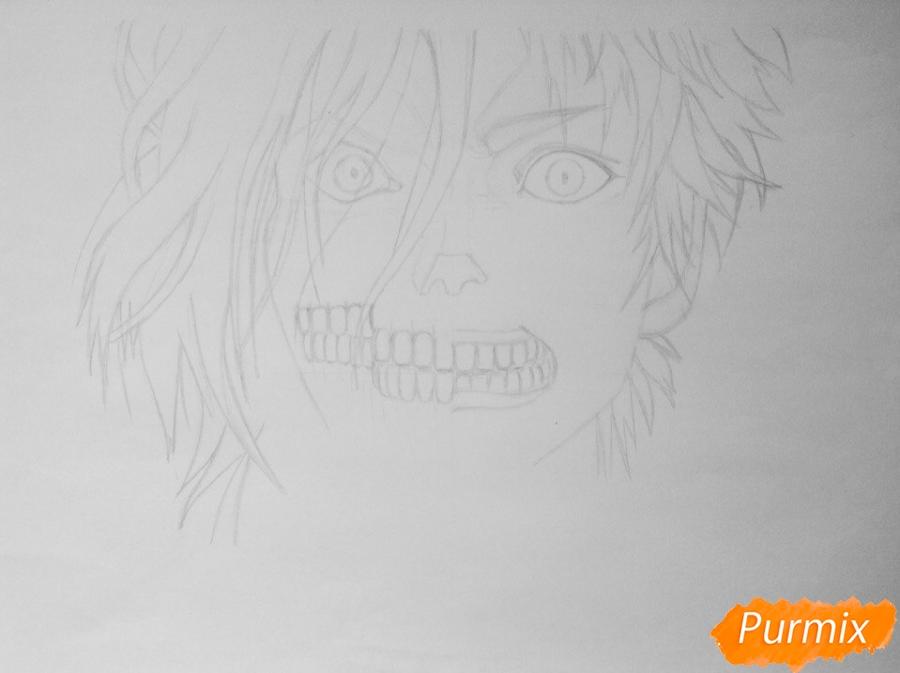 Рисуем Эрена Йегера из аниме Атака Титанов - шаг 3