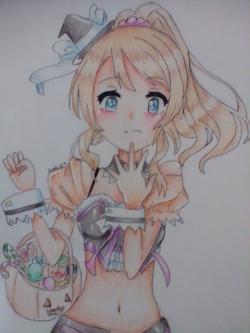 Рисунок Эри Аясе из аниме Live Love