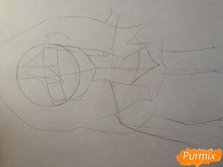 Рисуем и раскрасить Каэ Сэринуму из аниме Я требую яоя - шаг 3